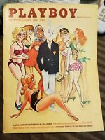 Playboy August 1961 * Very Good Condition * Free Shipping USA