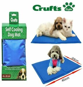 Crufts Cooling Mat Dog Puppy Self Cool Pet Non-Toxic Heat Relief Gel Mat Multi