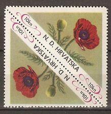 Kroatische Exilregierung 1952-53 Blumen 10kn ** Postfrisch