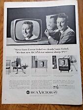 1958 RCA Victor TV Television Ad  Hollywood Star George Gobel Mirror Sharp TV