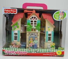 FISHER-PRICE ~ COUNTRY HOUSE ~ 2000 75117 Playset & Carrying Case (Handle) ~ NEW