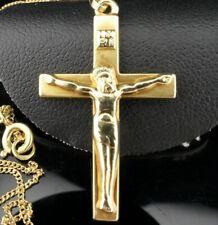 Bezaubernder KREUZ-Anhänger + Kette Gold 585 14K Gelbgold - Wundervolles Design*