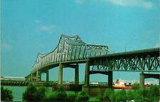 Baton Rouge LA Mississippi River Bridge Postcard unused (16808)