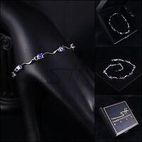 Armband, Armschmuck, Bracelet *Fein* Weißgold pl., Swarovski Elements, +Etui