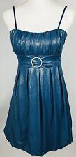 Body Central Womens Juniors Dress Small Blue Gold NWT Spaghetti Strap Short