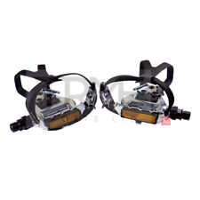 Wellgo LU961 Alloy Road Pedals with Clips and Straps (Pair)