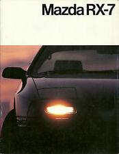 CATALOGUE PUBLICITAIRE MAZDA RX-7 - 1986