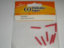 PV0921 Thunder Tiger Skid Damper x 8 Red R/C Helicopter Spare Parts New
