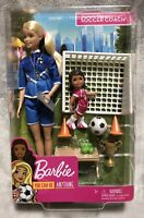 NEW Mattel Barbie You Can Be Anything Soccer Coach Barbie Doll and Playset