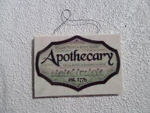 Apothecary sign1:12 dollhouse miniatures Halloween