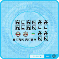Black//White Transfers 0691 Alan Bicycle Stickers Decals