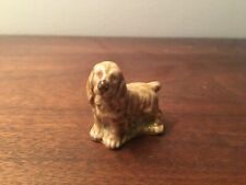 Wade England Porcelain Whimsies Figurine 155-5: Spaniel Puppy Dog (Red Rose Tea)