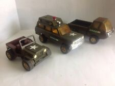 Vintage Tonka Military Jeep Rescue Cherokee Dodge Truck Lot