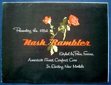 Prospectus Brochure 1954 NASH RAMBLER by Pinin Farina * Rambler Cross Country USA