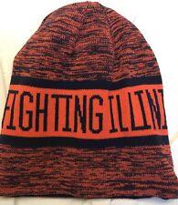 NWT Nike Illinois Fighting Illini Reversible Beanie Cap Black OSFM $30