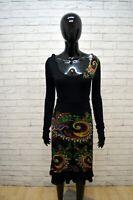 Vestito Donna DESIGUAL Taglia S Abito Tubino Maglia Dress Women Nero Robe Tajer
