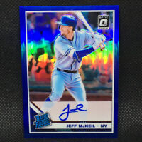 #/75! 🚨 2019 JEFF McNEIL Auto RC Donruss Optic Rated Rookie New York Mets Blue