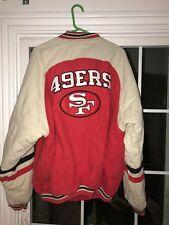 Vtg 90s SF 49ers Jacket Champion Varsity Letterman Pro Team Edition Big Logo Xl