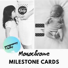 Pregnancy Milestones with Matching Baby Milestone Cards - Monochrome Unisex