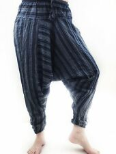 Bohemian Blue Striped harem Yoga pants Made In Nepal Sz S