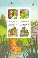 FRANKLIN THE TURTLE = Cartoon = Block 4 =Left bklt Page Canada 2012 #2542-45 MNH