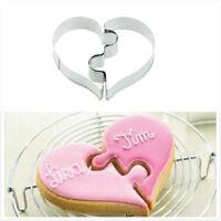 2x Love puzzle Metal Cutter moule pour DIY gâteau de mariage pâtisserie _H