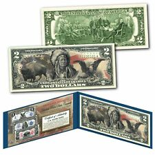 Americana Images of Historical U.S. Currency $2 Bill * BISON - INDIAN - EAGLE *