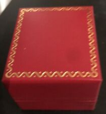 Beautiful Jewelry  Square Shape Ring Box Red Gold