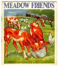 Vintage 1941 MEADOW FRIENDS Linenette Book! Samuel Gabriel & Sons No. 464 (NY)