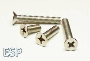 Bolt Base 4mm A2 Edelstahl Senkschrauben mit Schlitz M4 X 8-10