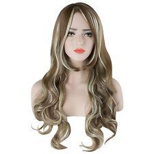 Blonde Auburn Mix Fashion Long Wavy Synthetic Women Wig Cosplay Costume Fancy