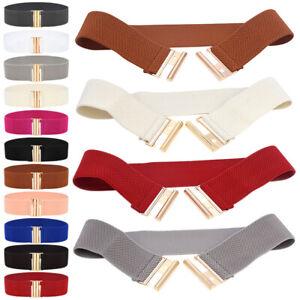 Women Wide Elastic Waist Belt Fashion Waistband Dress Ladies Stretchy Cinch Belt