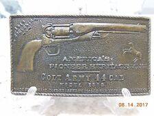 America's Pioneer Heritage Colt Army 44 Cal Model1860 1919 Souvenir Buckle E-156