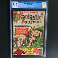 FANTASTIC FOUR ANNUAL #1 (1963) 💥 CGC 3.0 OW 💥 SPIDERMAN XOVER!