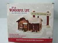 ENESCO Its A Wonderful Life Christmas Village Light Up MARTINIS BAR 2003