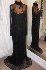 Bob Mackie black sequin redcarpet dress - Ditsy Vintage 12 - Vampilicious 1990s