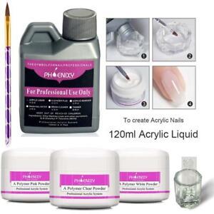 Acryl Nagel Set Acrylic Liquid 120ML Nägel Starterset Acrylpulver Pinsel Geschen