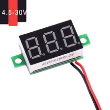 1x Car Electric LCD Red Digital Panel Voltmeter Volt Meter DC 4.5-30V 2 Wires