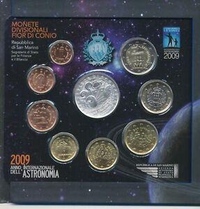 2009 Repubblica San Marino Monnaies Divisionnaire FDC An International Astronomy