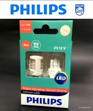 Genuine PHILIPS LED T20 7443 RED Stop Tail Light 11066ULRX2 Bulb 2 Pcs#SGT