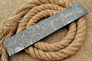HUNTEX Forged Damascus Steel 255 mm Flower Feather Pattern Billet Knife Making