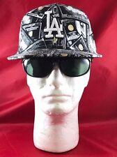 New Era 59Fifty MLB LA Dodgers Black and White Dollar Bills Money Flat Hat