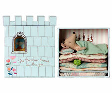 Maileg - Princess Mouse On The Pea - Boxed Bed/Castle, Quilts & Pea