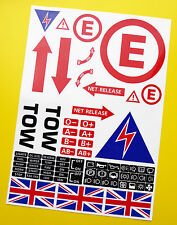 Scrutineering Safety STICKER DECAL SET Ideal for Rally, Race, Classic cars!