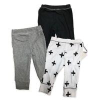 Baby Boys' 3pk Pants Cloud Island - Black/White/Gray Size 6-9M, 12M