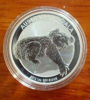 2012 Perth Mint AUSTRALIAN KOALA .999 Proof-Like $1 Dollar 1 Silver Coin BU