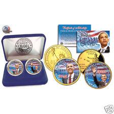 BARACK OBAMA U.S. 2 Coin Set-Collectible Set - 24K Gold Plated
