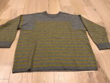 J Crew Collection Women's Grey Mustard Yellow Cashmere Sweater Med EUC