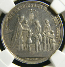 German States Silver Confirmation Medal NGC AU 55
