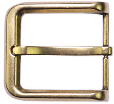 "Men's Zinc Pin Belt Buckle in Bronze Polished Finish Fits 1-1/2"" Belts"